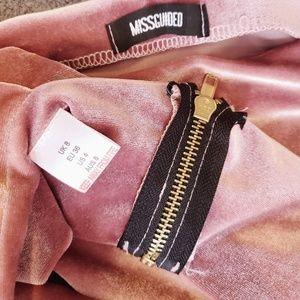 Missguided Dresses - Pink Velvet Set